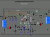 Мнемосхема ультрафильтрационной установки на сенсорной панели оператора TP1200 Comfort 12