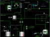 Мнемосхема установки флотации нефтесодержащих стоков (сенсорный промышленный монитор SIMATIC Flat Panel 17