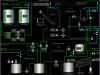 Мнемосхема установки флотации производственно-дождевых стоков (сенсорный промышленный монитор SIMATIC Flat Panel 17