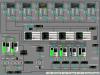 Мнемосхема блоков сорбционных фильтров и обратноосмотических установок (сенсорная панель оператора MP377 15
